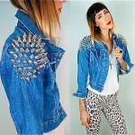 vintage 1980s levis spiked denim jacket