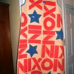 vintage nixon paper campaign dress