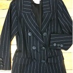 vintage ysl pinstripe blazer