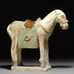 ancient chinese ming dynasty horse statue pottery