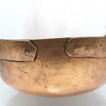 antique 18th century solid copper sugar pot