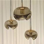 vintage 1970s peil and putzler triple pendant lamp