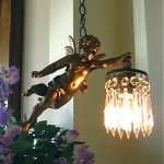 vintage 1920s french gilt bronze cherub chandelier