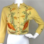 vintage 1950s helen bond carruthers cashmere embroidered cardigan