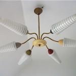 vintage 1950s modernist ceiling lamp