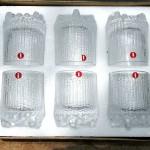 vintage 1950s unused wirkkala shot glasses set