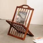 vintage 1960s danish modern teak magazine rack
