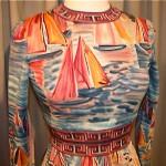 vintage 1960s goldworm art dress