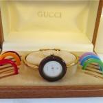vintage 1980s gucci bracelet watch set
