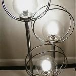 vintage atomic space age modernist chrome table lamp