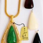 vintage interchangeable trifari necklace set