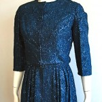 vintage midcentury metallic embroidered dress and jacket