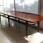 vintage midcentury modern mahogany table
