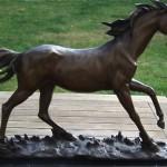vintage signed mene bronze horse statue sculpture