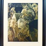vintage signed normal rockwell lithograph