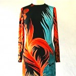 vintage 1970s feather print maxi blog