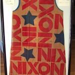 vintage framed nixon paper dress plus signatures