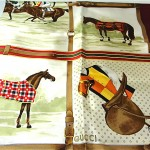 vintage gucci silk scarf with original box