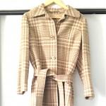 vintage hermes sport houndstooth wool coat blog