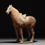 antique chinese tang dynasty terracotta horse sculpture