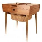 vintage 1950s danish teak sewing box sideboard