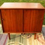 vintage 1960s walnut small credenza