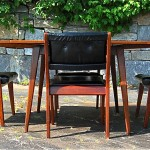 vintage mid-century jens risom dining table and chairs