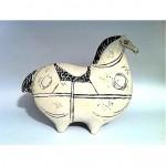 vintage stig lindberg pottery horse