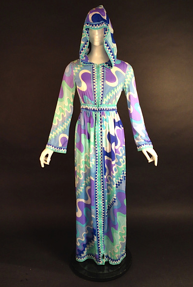 vintage 1960s Emilio Pucci for Formfit Rogers Hooded Robe
