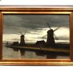 antique 1880s dutch oil painting z