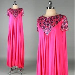 vintage 1960s malcolm starr chiffon beaded evening gown z
