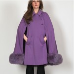 vintage 1960s wool shearling cape