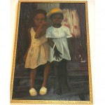 vintage 1963 oil on board painting z
