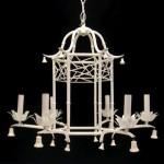 vintage italian tole faux bamboo pagoda chandelier z