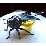 vintage mappin and webb bumblebee honey pot z