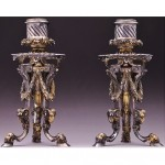 vintage russian faberge solid silver ram candlesticks z