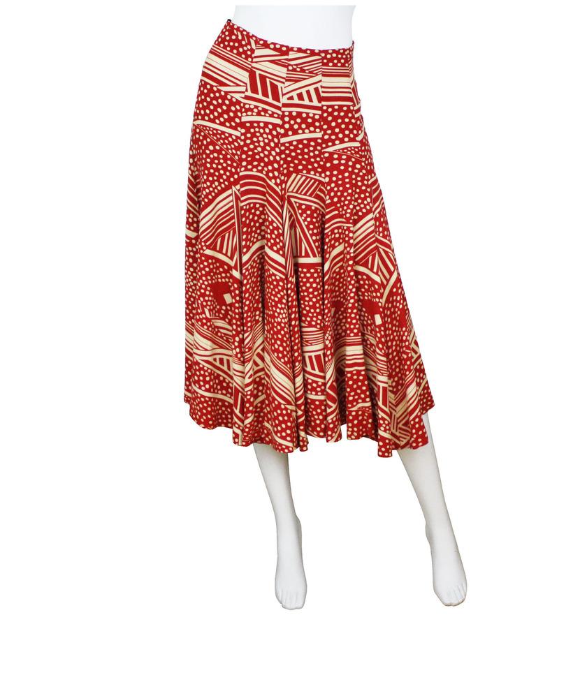 vintage 1970s biba print jersey skirt