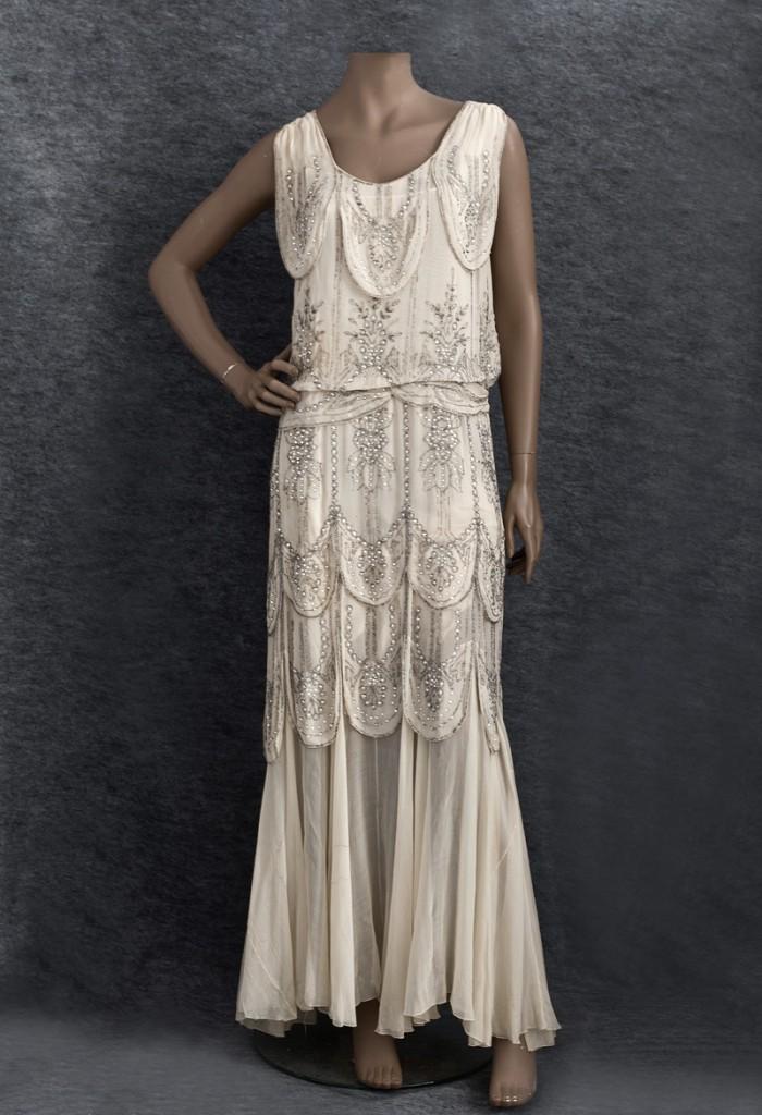 vintage 1930s beaded evening dress