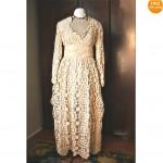 vintage 1930s crochet lace maxi dress