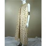 vintage 1960s mirrored silk maxi vest