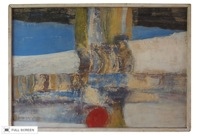 vintage 1965 abstract painting