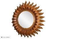 vintage 19th century french sunburst mirror