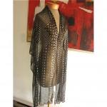 vintage art deco assuit scarf shawl