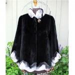 vintage boya sheared black mink with chinchilla jacket