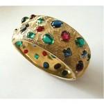 vintage castlecliff jeweled bangle bracelet