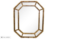 vintage gold faux bamboo wood mirror