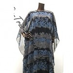 vintage jean varon chiffon maxi dress