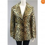 vintage lilli ann leopard print blazer