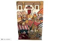 vintage mid-century peruvian wall tapestry