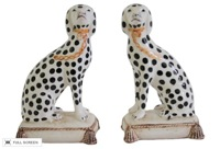 vintage porcelain dalmation bookends